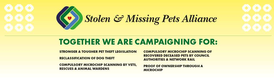 Campaigning to help owners with stolen and missing pets