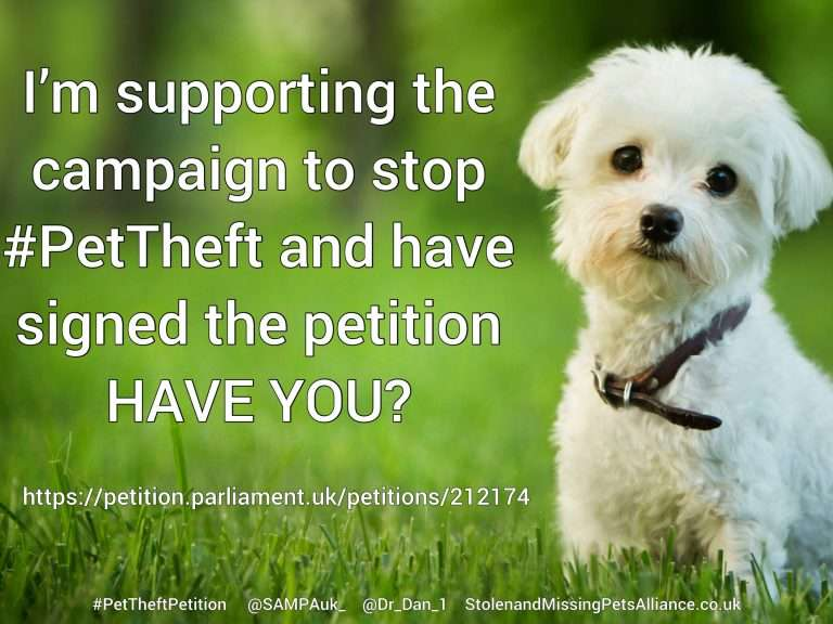 We have MPs ready, legal experts and celebrity support but without the signatures for the #PetTheftPetition we have nothing!