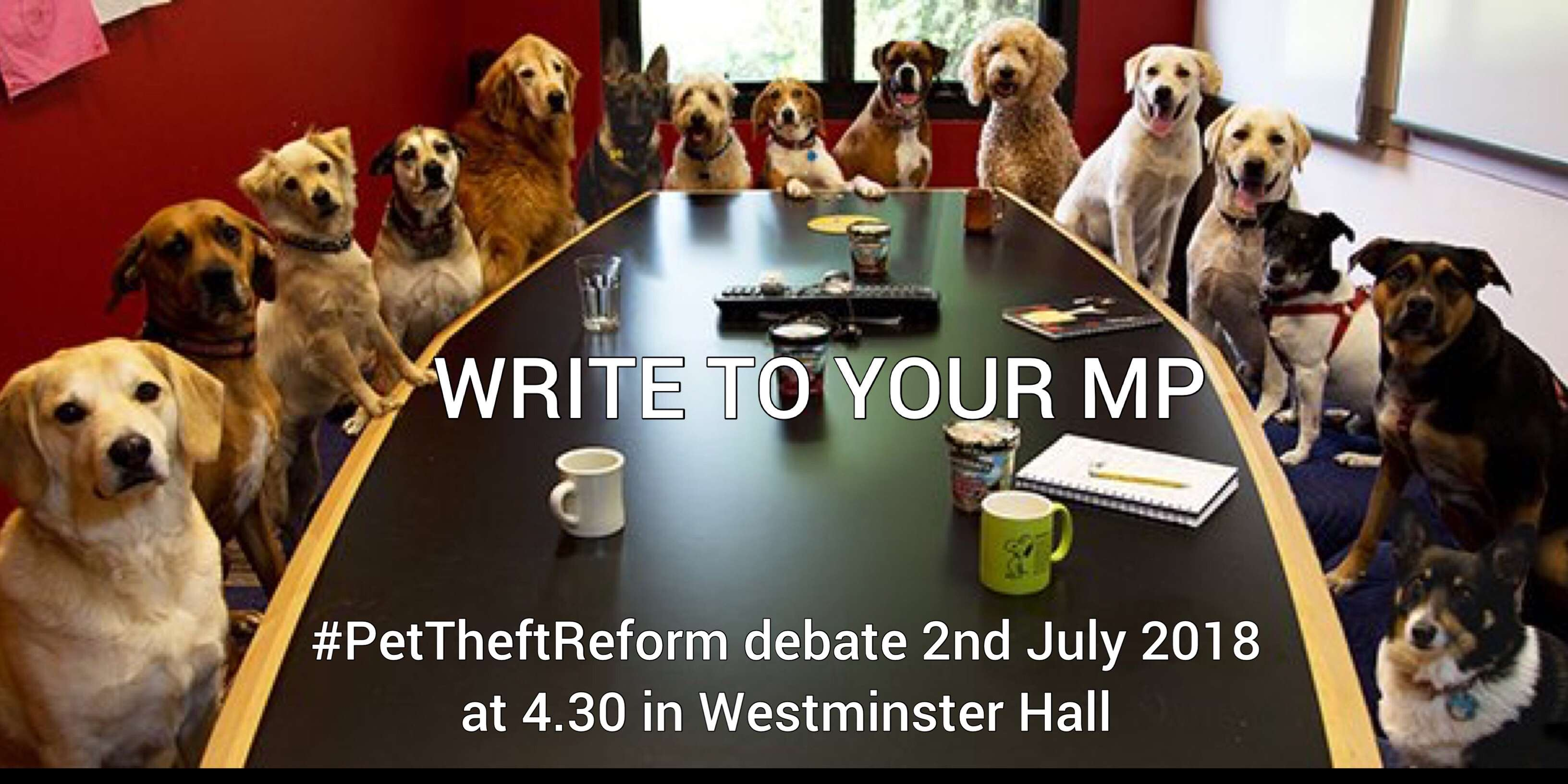 #PetTheft debate is on 2nd July 2018 in Westminster Hall at 4.30.  Please email your MP.