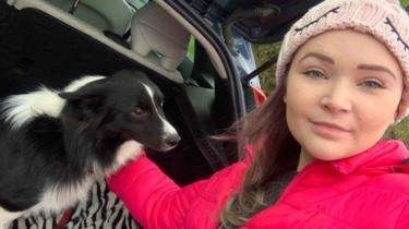 Border collie rescued after Llanelli drone search – BBC News