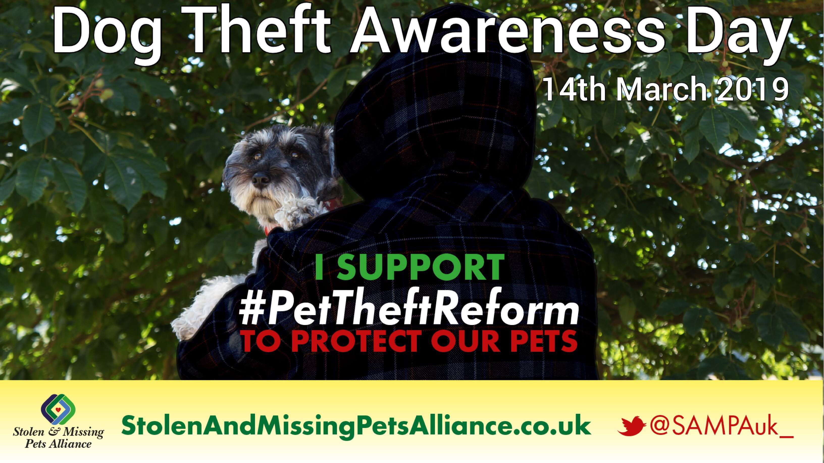 #DogTheftAwarenessDay 14th March 2019.