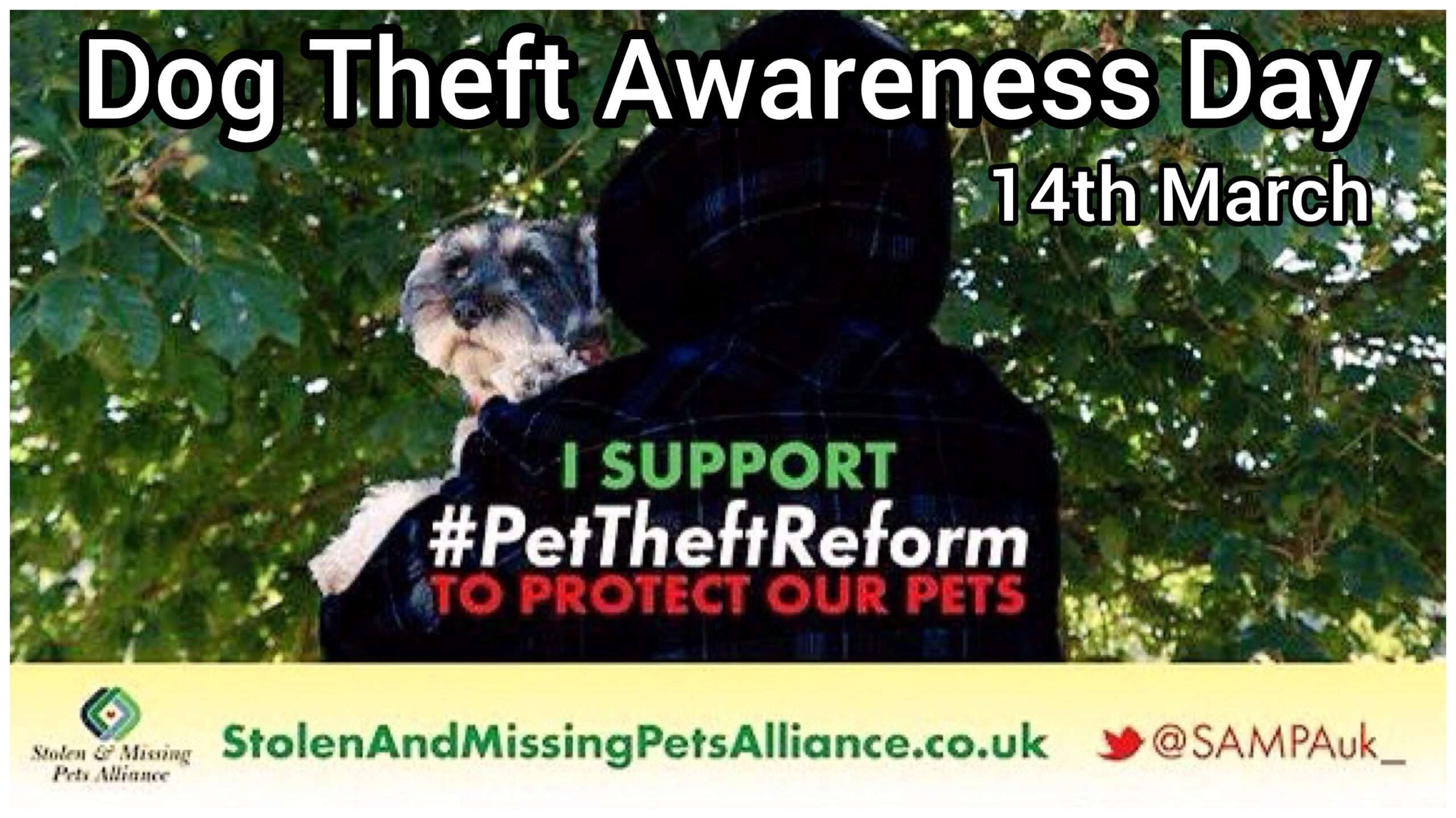 Dog Theft Awareness Day, 14 March 2020