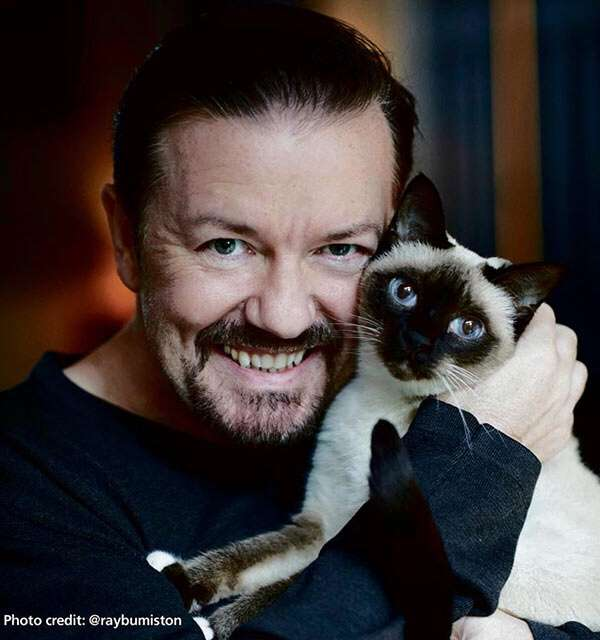 Big thank you to Ricky Gervais for supporting the campaign to STOP pet theft.