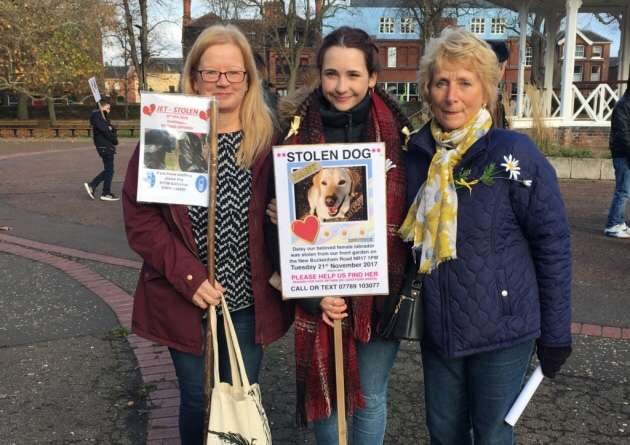 'It's like losing a child' – Dog walkers join devastated grandmother to rally against dog theft #PetTheftReform