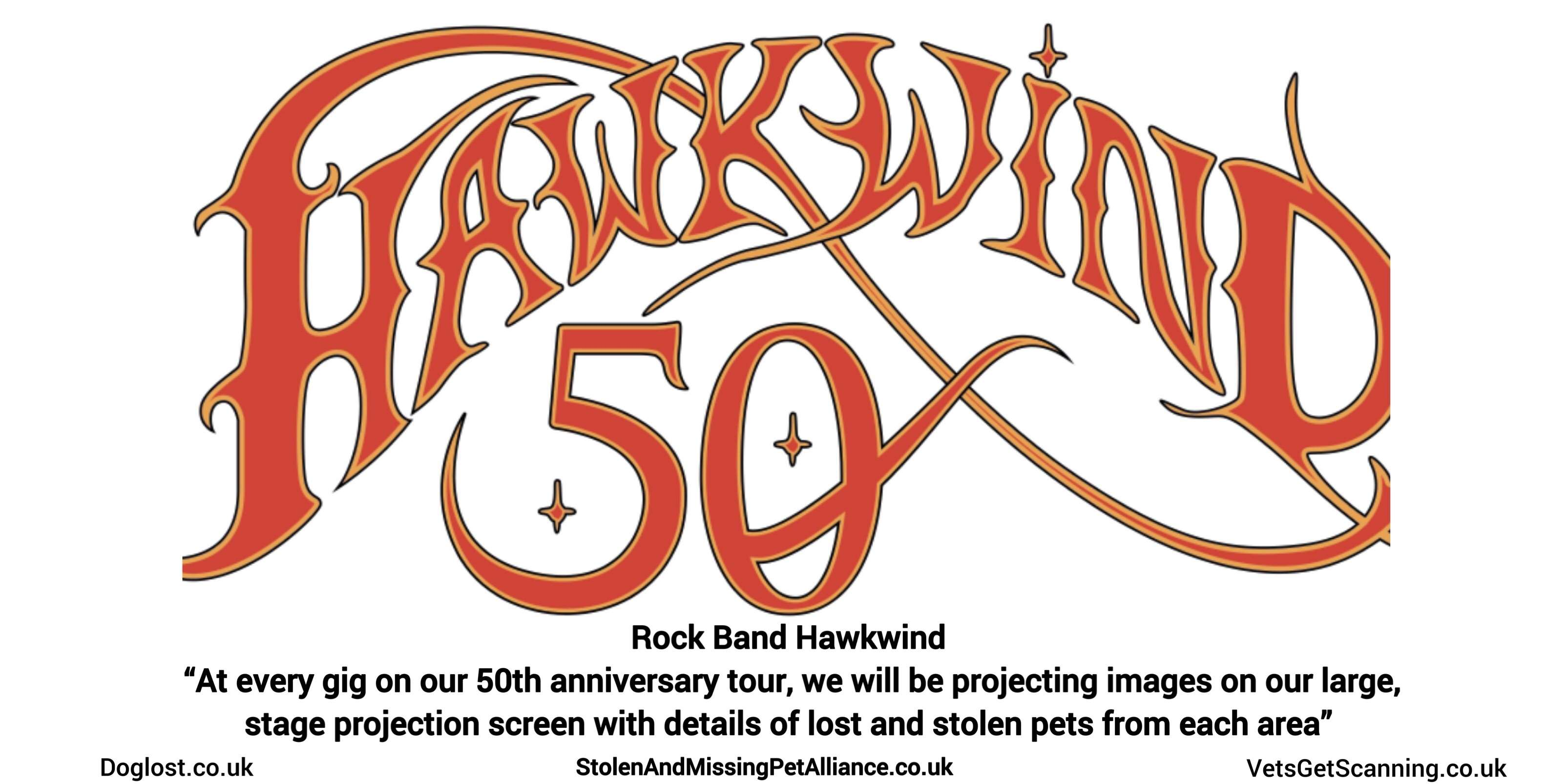 Hawkwind are proud to be helping to raise awareness of the ever growing problem of pet theft. #PetTheftReform